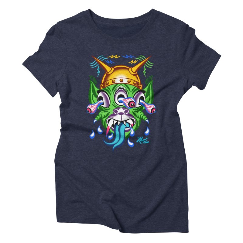 """'Leave it to Beaver' Monster Shirt! """"Beaver"""" version! Women's Triblend T-Shirt by Mitch O'Connell"""