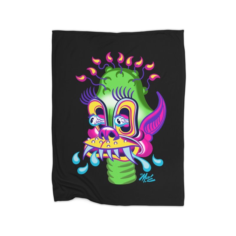 """'Leave it to Beaver' Monster Shirt! """"Alan"""" version! Home Fleece Blanket Blanket by Mitch O'Connell"""