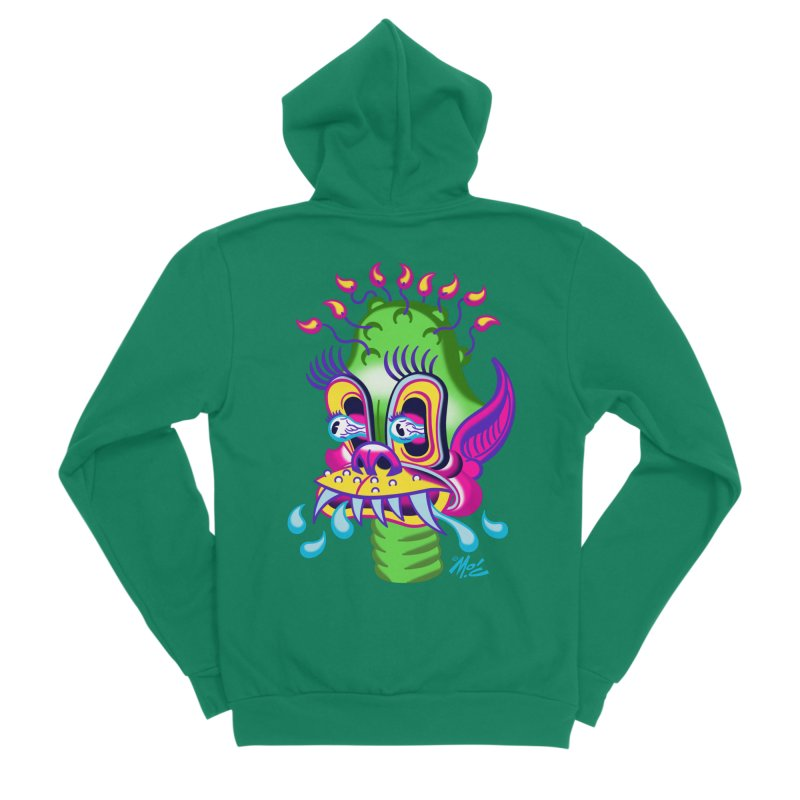 "'Leave it to Beaver' Monster Shirt! ""Alan"" version! Women's Sponge Fleece Zip-Up Hoody by Mitch O'Connell"
