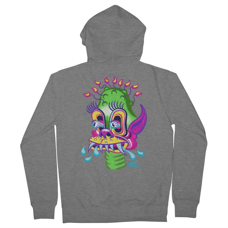 """'Leave it to Beaver' Monster Shirt! """"Alan"""" version! Women's French Terry Zip-Up Hoody by Mitch O'Connell"""