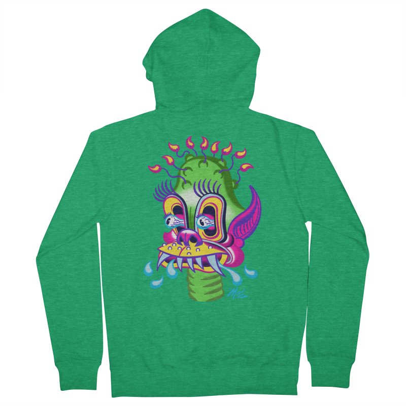 """'Leave it to Beaver' Monster Shirt! """"Alan"""" version! Men's French Terry Zip-Up Hoody by Mitch O'Connell"""
