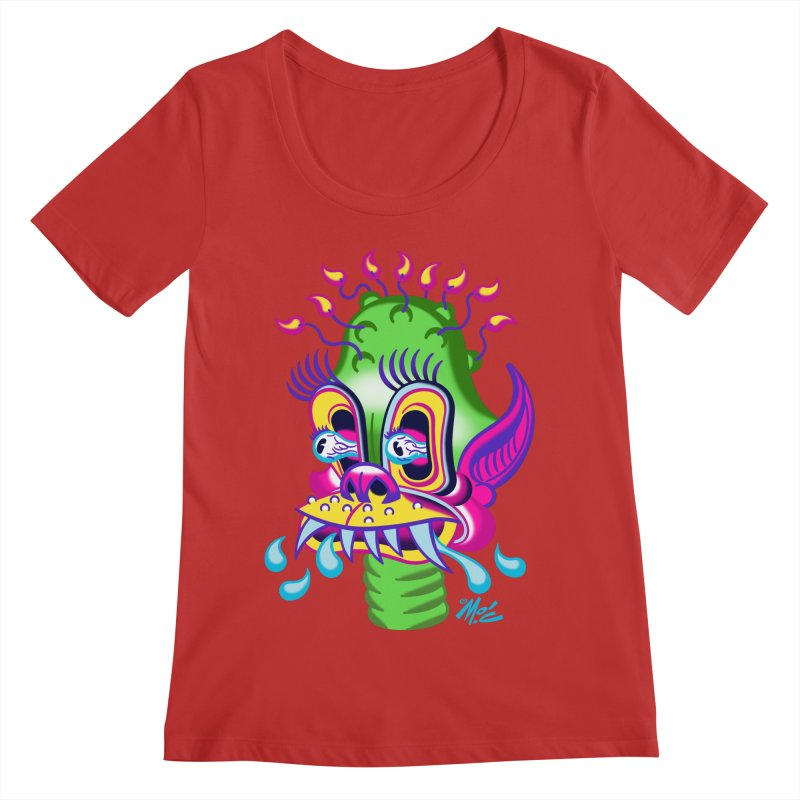 """'Leave it to Beaver' Monster Shirt! """"Alan"""" version! Women's Regular Scoop Neck by Mitch O'Connell"""