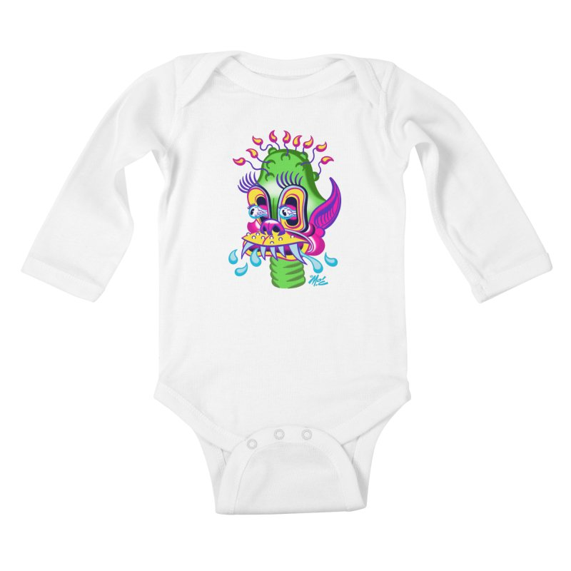"""'Leave it to Beaver' Monster Shirt! """"Alan"""" version! Kids Baby Longsleeve Bodysuit by Mitch O'Connell"""