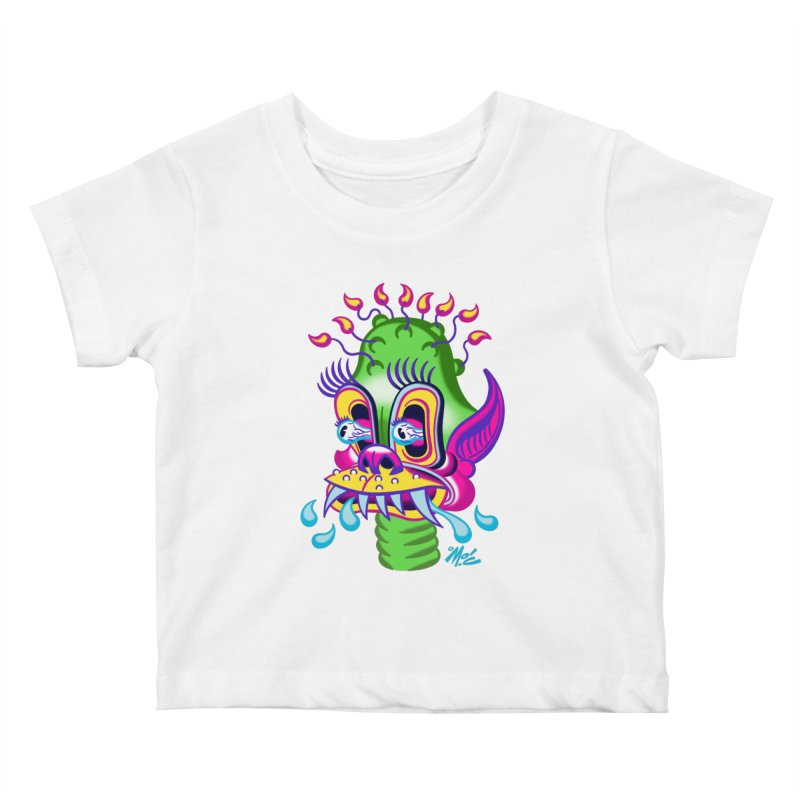 """'Leave it to Beaver' Monster Shirt! """"Alan"""" version! Kids Baby T-Shirt by Mitch O'Connell"""