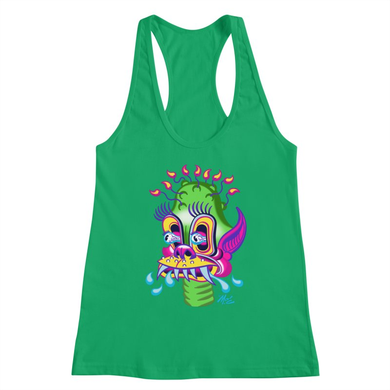 """'Leave it to Beaver' Monster Shirt! """"Alan"""" version! Women's Racerback Tank by Mitch O'Connell"""