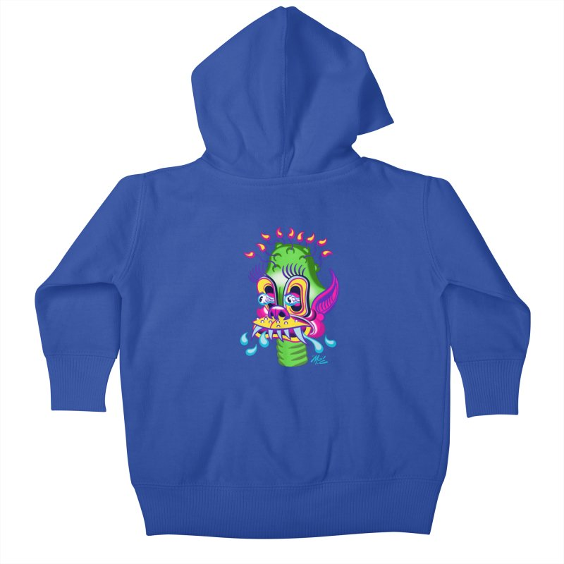 """'Leave it to Beaver' Monster Shirt! """"Alan"""" version! Kids Baby Zip-Up Hoody by Mitch O'Connell"""