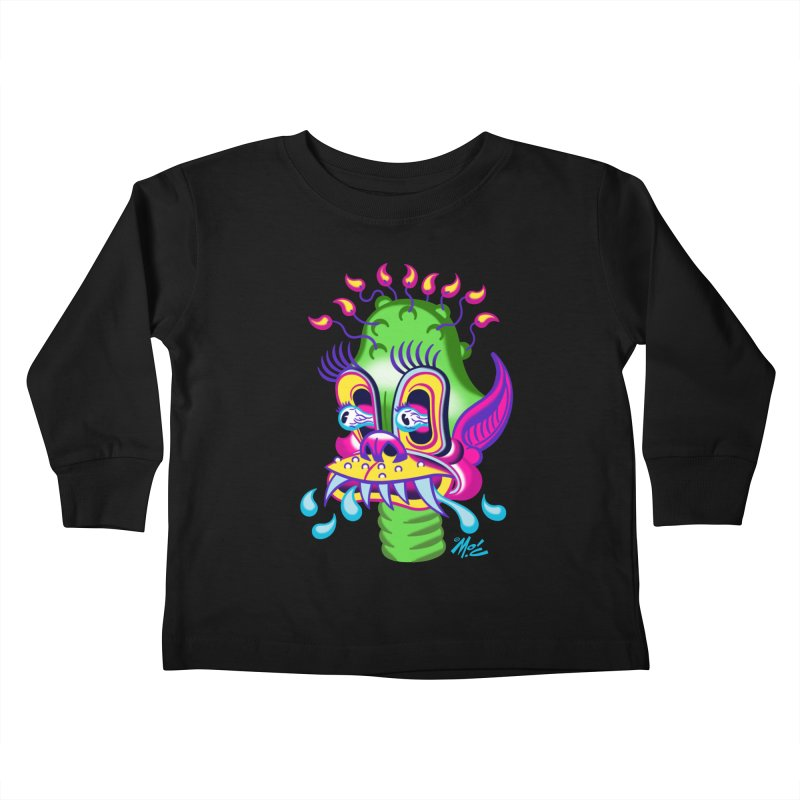 """'Leave it to Beaver' Monster Shirt! """"Alan"""" version! Kids Toddler Longsleeve T-Shirt by Mitch O'Connell"""