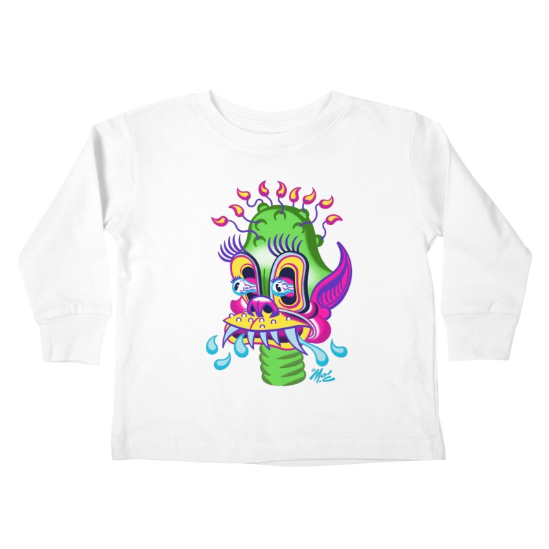 "'Leave it to Beaver' Monster Shirt! ""Alan"" version! Kids Toddler Longsleeve T-Shirt by Mitch O'Connell"