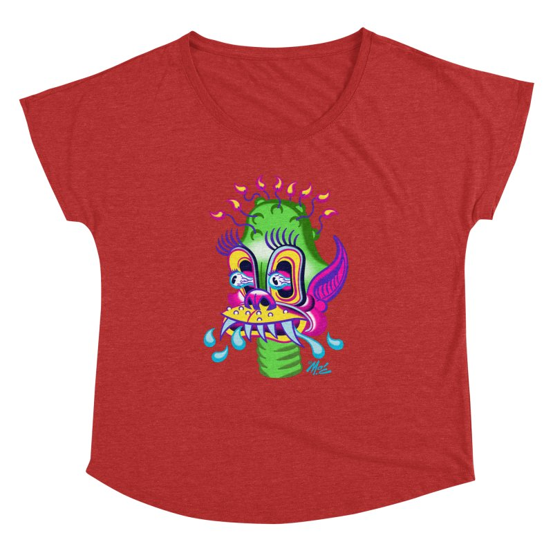 """'Leave it to Beaver' Monster Shirt! """"Alan"""" version! Women's Dolman Scoop Neck by Mitch O'Connell"""