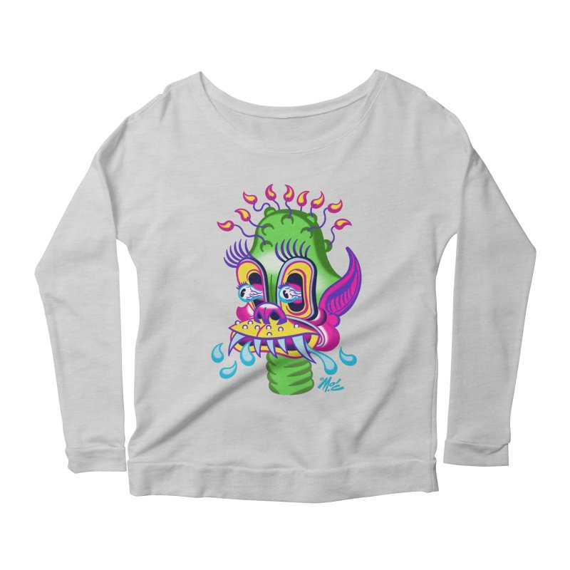 "'Leave it to Beaver' Monster Shirt! ""Alan"" version! Women's Scoop Neck Longsleeve T-Shirt by Mitch O'Connell"