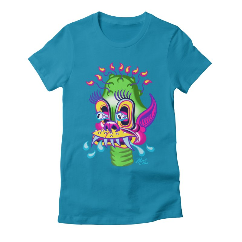 """'Leave it to Beaver' Monster Shirt! """"Alan"""" version! Women's Fitted T-Shirt by Mitch O'Connell"""