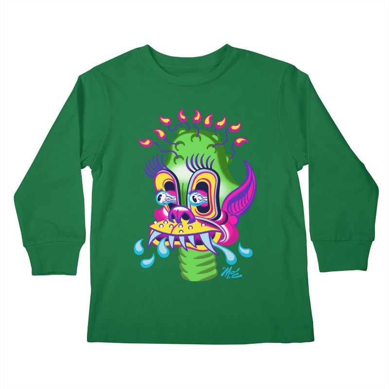 "'Leave it to Beaver' Monster Shirt! ""Alan"" version! Kids Longsleeve T-Shirt by Mitch O'Connell"