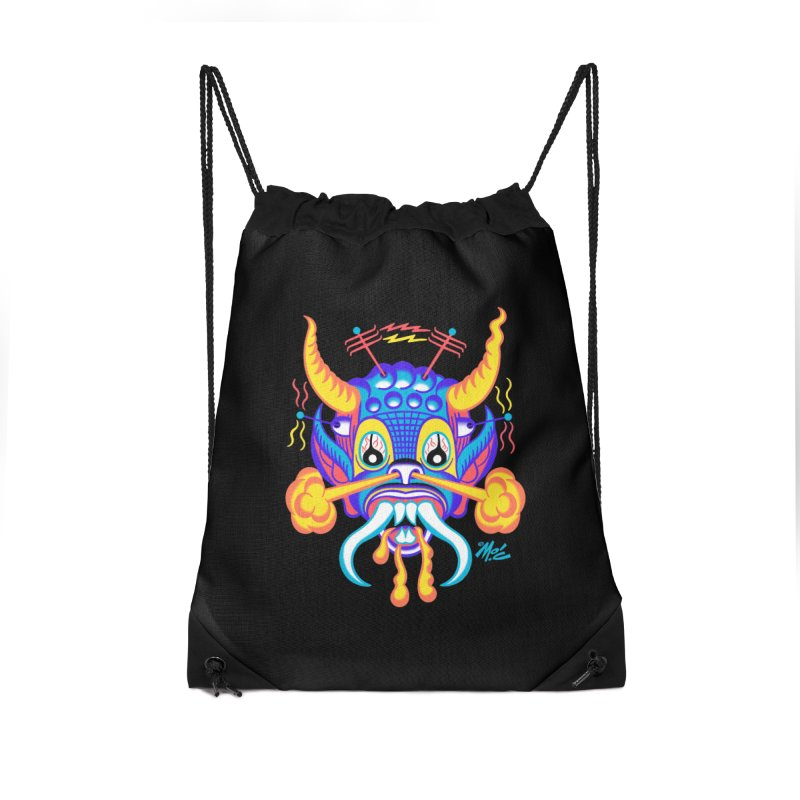 "'Leave it to Beaver' Monster Shirt! ""Richard"" version! Accessories Drawstring Bag Bag by Mitch O'Connell"