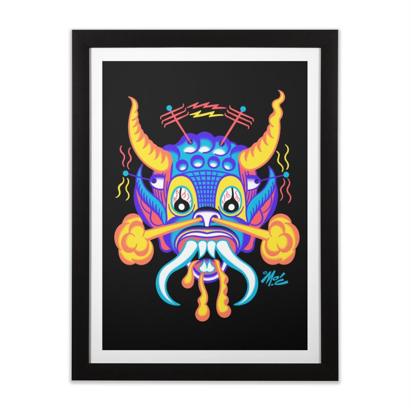 "'Leave it to Beaver' Monster Shirt! ""Richard"" version! Home Framed Fine Art Print by Mitch O'Connell"