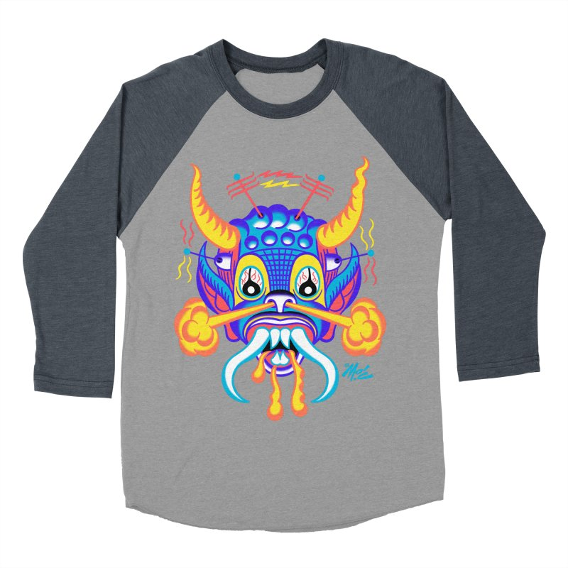 """'Leave it to Beaver' Monster Shirt! """"Richard"""" version! Women's Baseball Triblend Longsleeve T-Shirt by Mitch O'Connell"""