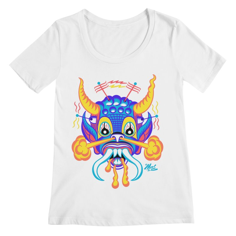 """'Leave it to Beaver' Monster Shirt! """"Richard"""" version! Women's Regular Scoop Neck by Mitch O'Connell"""