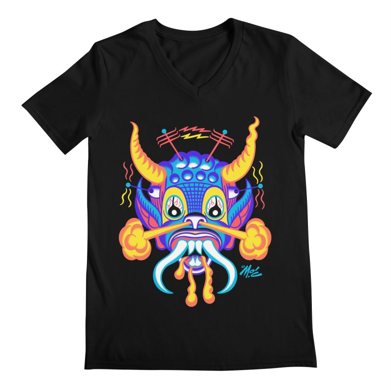 """'Leave it to Beaver' Monster Shirt! """"Richard"""" version! Men's Regular V-Neck by Mitch O'Connell"""