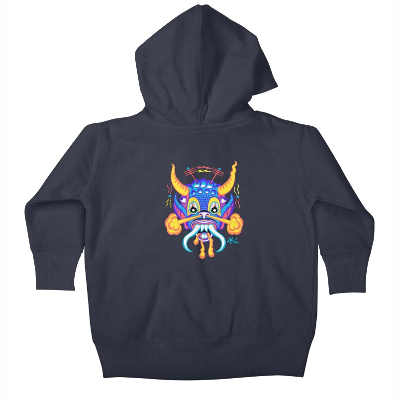 """'Leave it to Beaver' Monster Shirt! """"Richard"""" version! Kids Baby Zip-Up Hoody by Mitch O'Connell"""