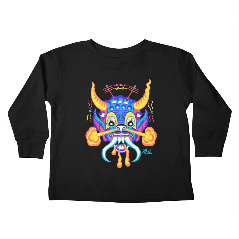 "'Leave it to Beaver' Monster Shirt! ""Richard"" version! Kids Toddler Longsleeve T-Shirt by Mitch O'Connell"