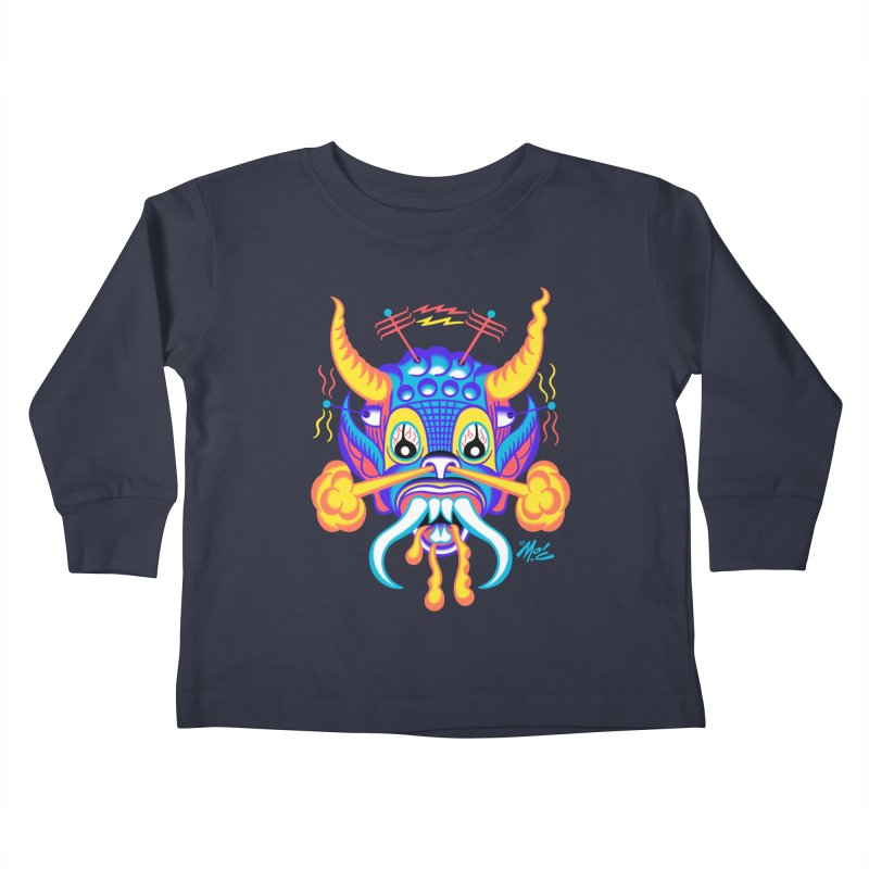 """'Leave it to Beaver' Monster Shirt! """"Richard"""" version! Kids Toddler Longsleeve T-Shirt by Mitch O'Connell"""