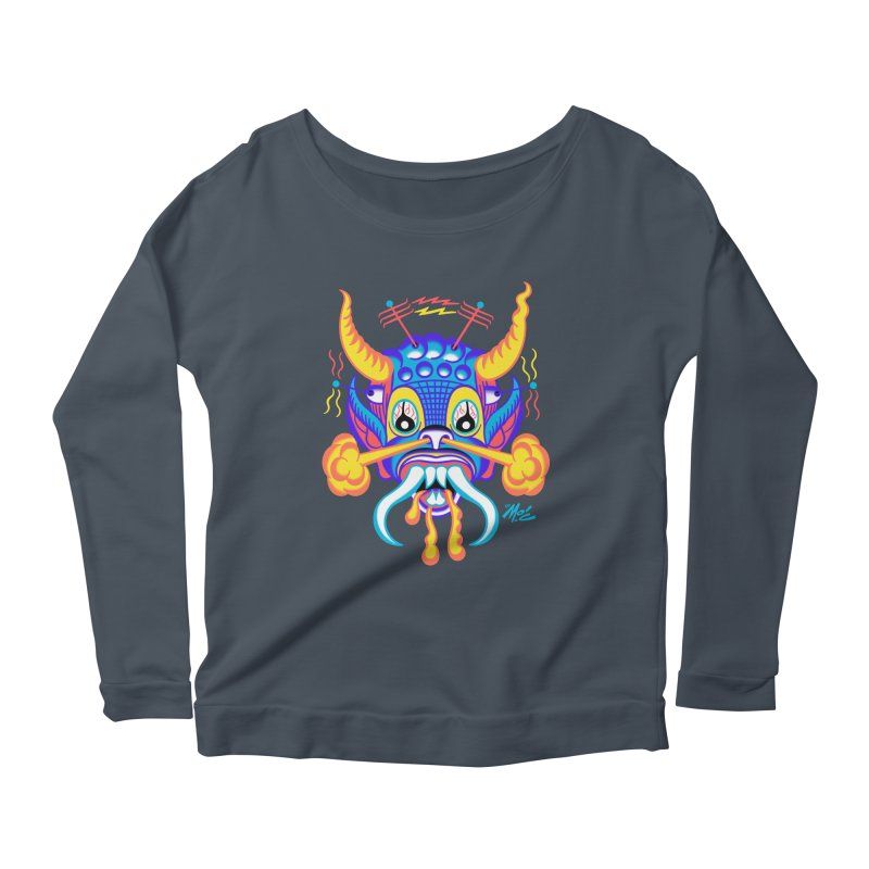 """'Leave it to Beaver' Monster Shirt! """"Richard"""" version! Women's Scoop Neck Longsleeve T-Shirt by Mitch O'Connell"""