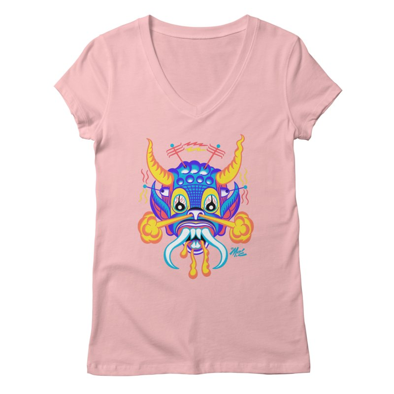 """'Leave it to Beaver' Monster Shirt! """"Richard"""" version! Women's Regular V-Neck by Mitch O'Connell"""