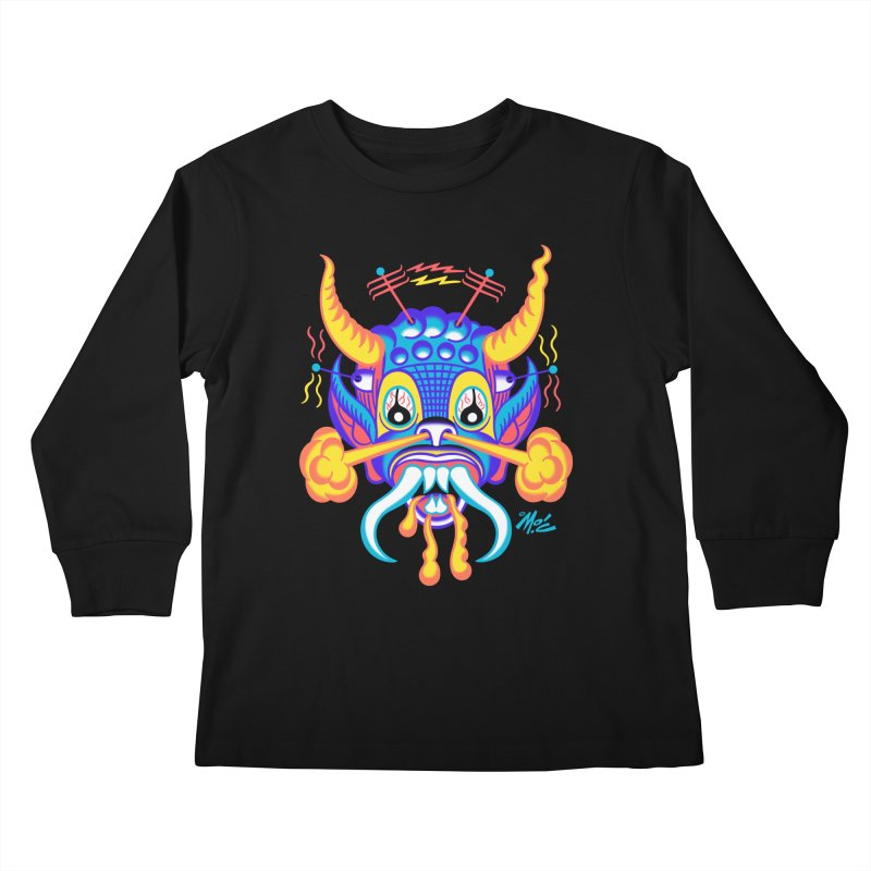 "'Leave it to Beaver' Monster Shirt! ""Richard"" version! Kids Longsleeve T-Shirt by Mitch O'Connell"