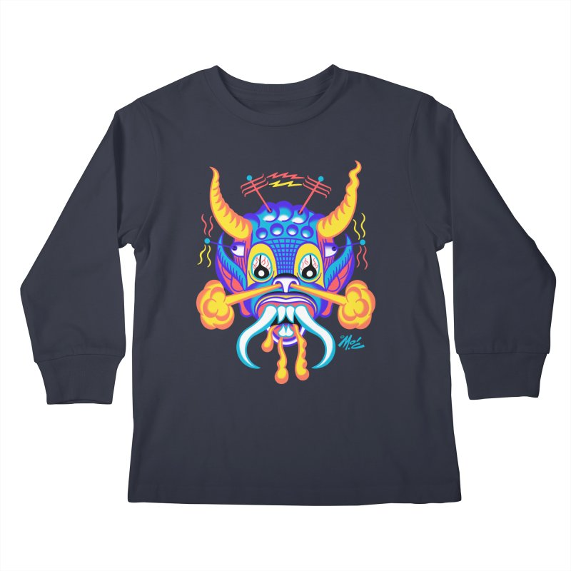 """'Leave it to Beaver' Monster Shirt! """"Richard"""" version! Kids Longsleeve T-Shirt by Mitch O'Connell"""