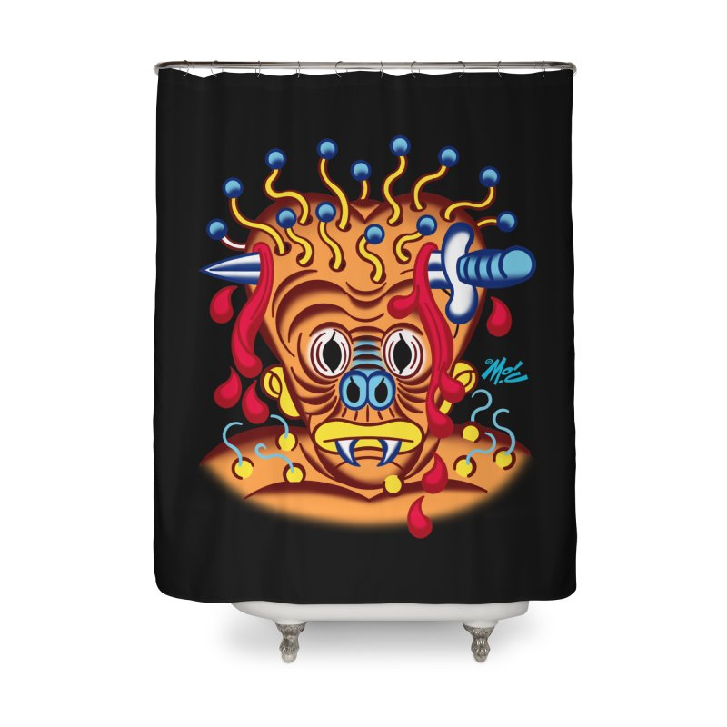 "'Leave it to Beaver' Monster Shirt! ""Whitey"" version! Home Shower Curtain by Mitch O'Connell"