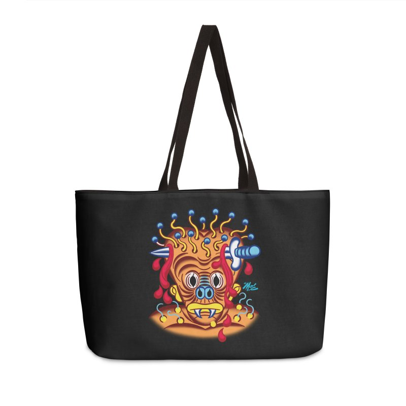 """'Leave it to Beaver' Monster Shirt! """"Whitey"""" version! Accessories Weekender Bag Bag by Mitch O'Connell"""