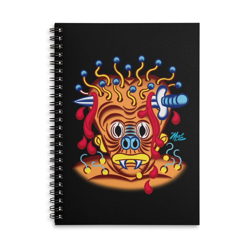 """'Leave it to Beaver' Monster Shirt! """"Whitey"""" version! Accessories Lined Spiral Notebook by Mitch O'Connell"""
