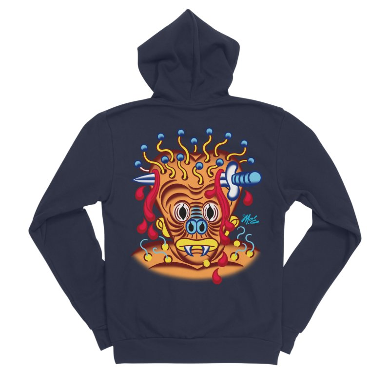 """'Leave it to Beaver' Monster Shirt! """"Whitey"""" version! Men's Sponge Fleece Zip-Up Hoody by Mitch O'Connell"""