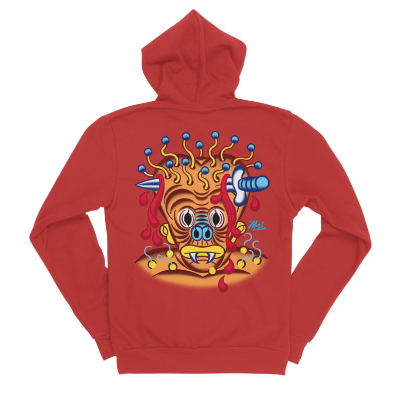 "'Leave it to Beaver' Monster Shirt! ""Whitey"" version! Men's Zip-Up Hoody by Mitch O'Connell"