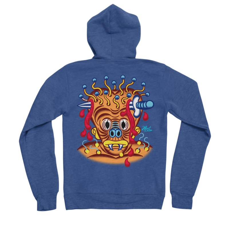"'Leave it to Beaver' Monster Shirt! ""Whitey"" version! Men's Sponge Fleece Zip-Up Hoody by Mitch O'Connell"
