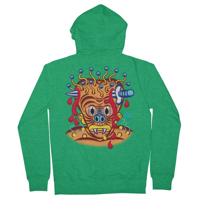 """'Leave it to Beaver' Monster Shirt! """"Whitey"""" version! Women's Zip-Up Hoody by Mitch O'Connell"""