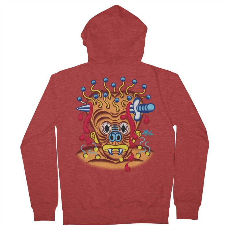 """'Leave it to Beaver' Monster Shirt! """"Whitey"""" version! Women's French Terry Zip-Up Hoody by Mitch O'Connell"""