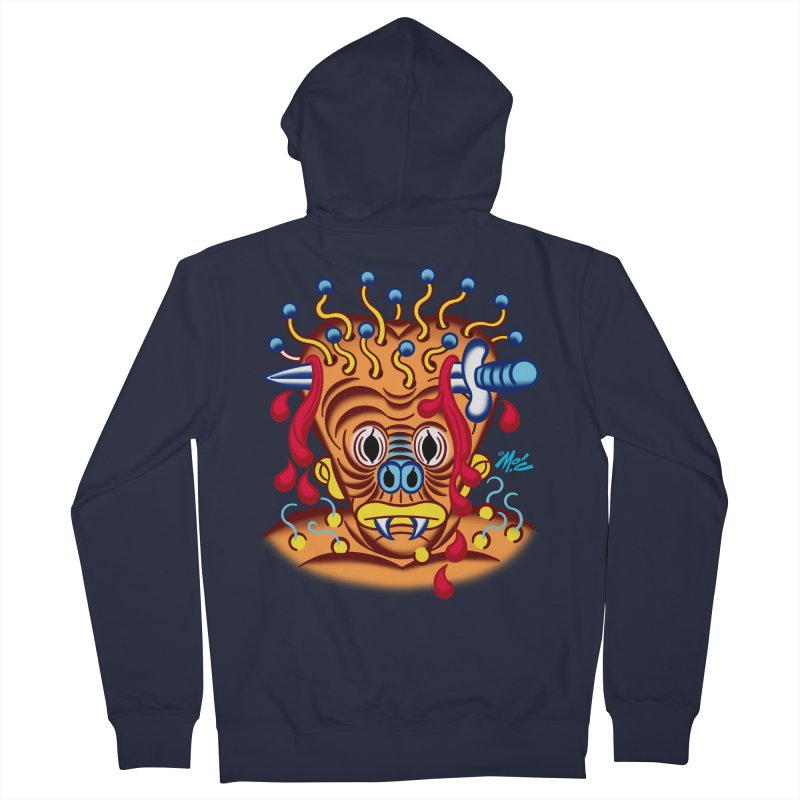 "'Leave it to Beaver' Monster Shirt! ""Whitey"" version! Women's French Terry Zip-Up Hoody by Mitch O'Connell"