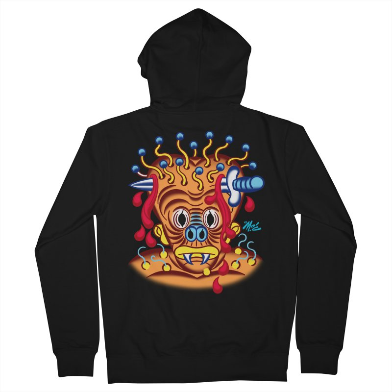 """'Leave it to Beaver' Monster Shirt! """"Whitey"""" version! Men's French Terry Zip-Up Hoody by Mitch O'Connell"""