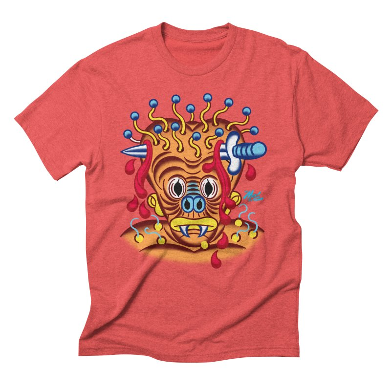 """'Leave it to Beaver' Monster Shirt! """"Whitey"""" version! Men's Triblend T-Shirt by Mitch O'Connell"""