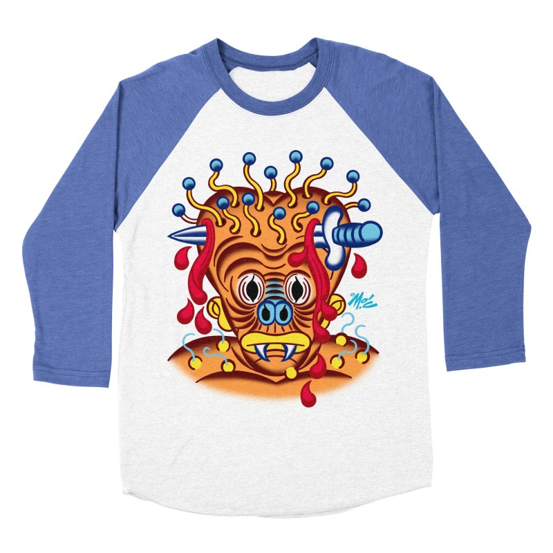"""'Leave it to Beaver' Monster Shirt! """"Whitey"""" version! Women's Baseball Triblend Longsleeve T-Shirt by Mitch O'Connell"""