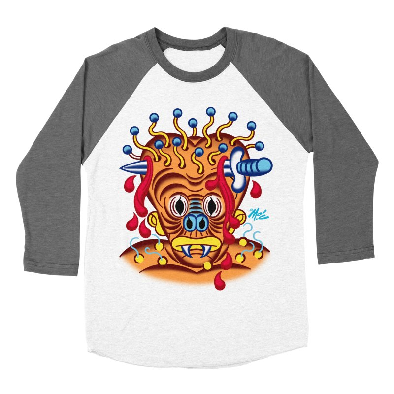 """'Leave it to Beaver' Monster Shirt! """"Whitey"""" version! Men's Baseball Triblend Longsleeve T-Shirt by Mitch O'Connell"""