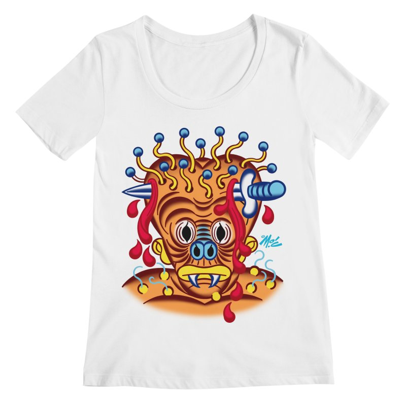 """'Leave it to Beaver' Monster Shirt! """"Whitey"""" version! Women's Regular Scoop Neck by Mitch O'Connell"""