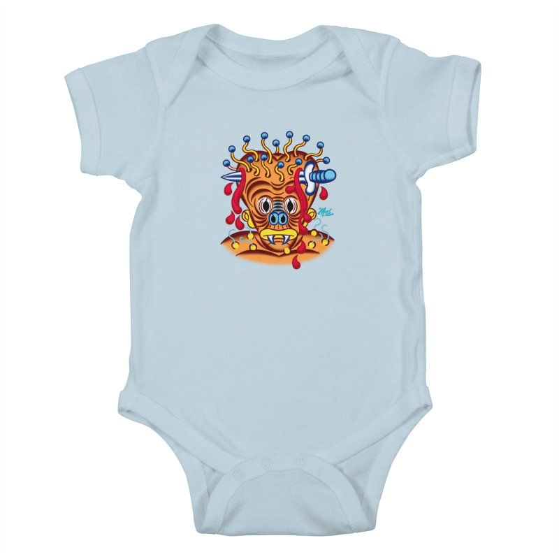 """'Leave it to Beaver' Monster Shirt! """"Whitey"""" version! Kids Baby Bodysuit by Mitch O'Connell"""