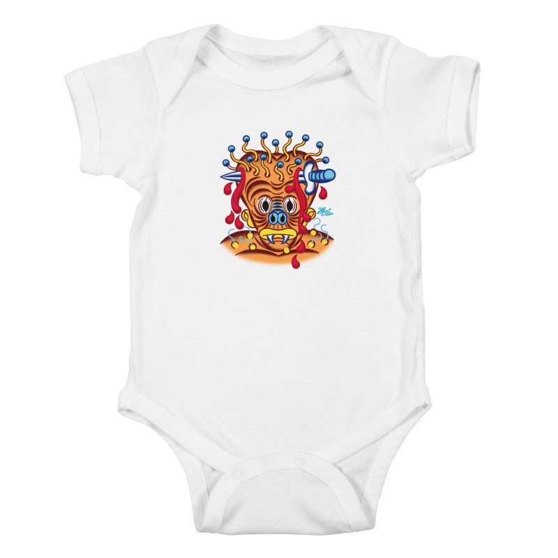 "'Leave it to Beaver' Monster Shirt! ""Whitey"" version! Kids Baby Bodysuit by Mitch O'Connell"