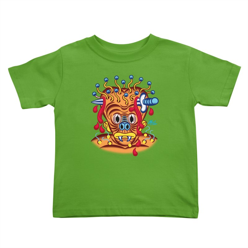 """'Leave it to Beaver' Monster Shirt! """"Whitey"""" version! Kids Toddler T-Shirt by Mitch O'Connell"""