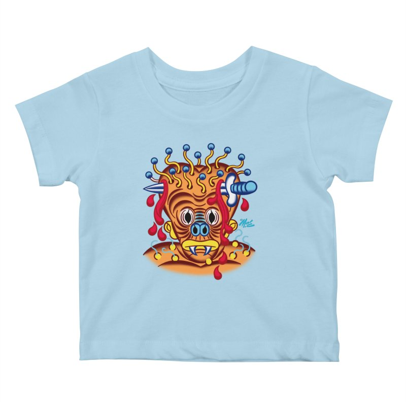 "'Leave it to Beaver' Monster Shirt! ""Whitey"" version! Kids Baby T-Shirt by Mitch O'Connell"