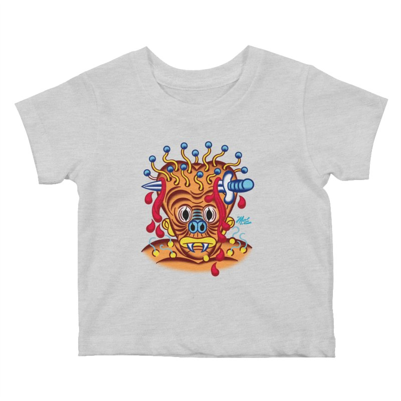 """'Leave it to Beaver' Monster Shirt! """"Whitey"""" version! Kids Baby T-Shirt by Mitch O'Connell"""