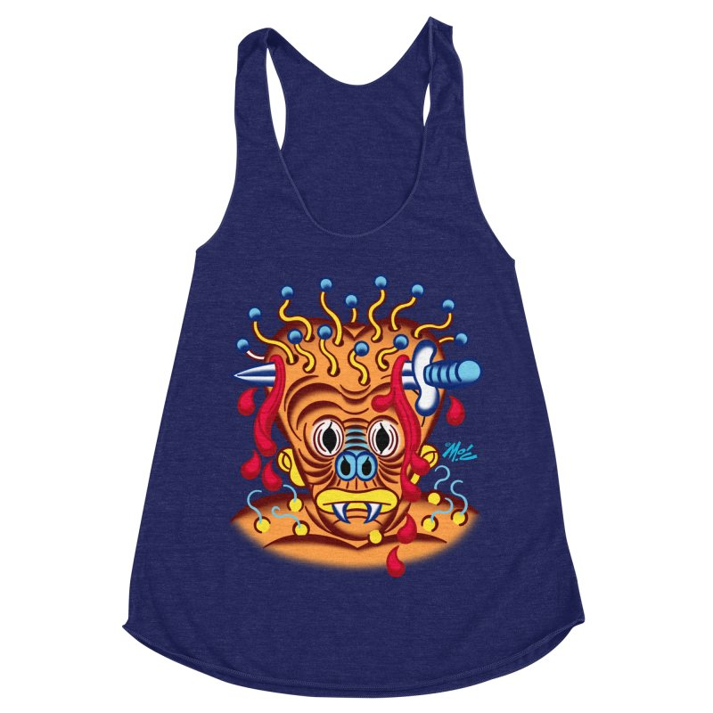 """'Leave it to Beaver' Monster Shirt! """"Whitey"""" version! Women's Racerback Triblend Tank by Mitch O'Connell"""