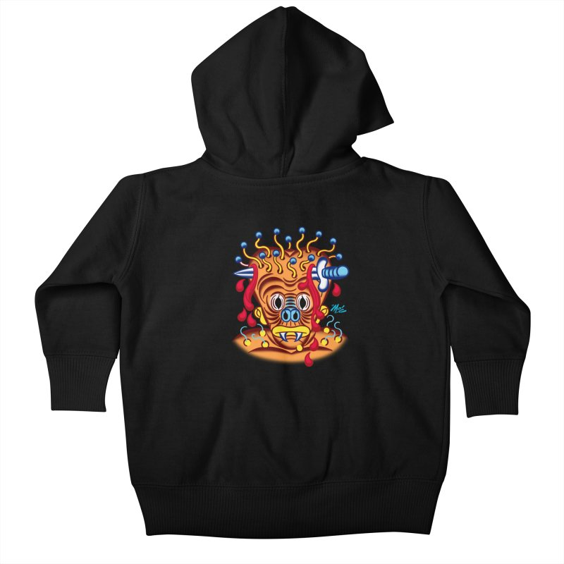 "'Leave it to Beaver' Monster Shirt! ""Whitey"" version! Kids Baby Zip-Up Hoody by Mitch O'Connell"