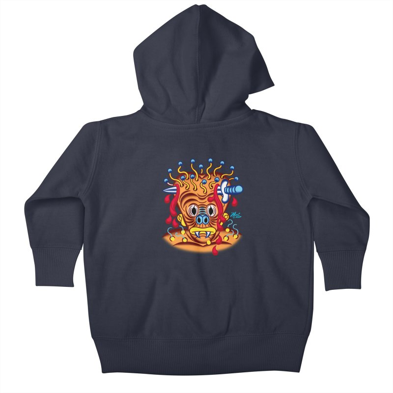 """'Leave it to Beaver' Monster Shirt! """"Whitey"""" version! Kids Baby Zip-Up Hoody by Mitch O'Connell"""